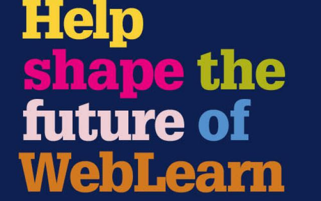 Text reading: Help shape the future of WebLearn