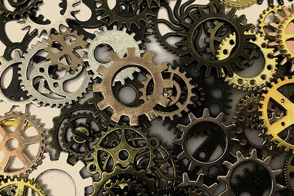 Abstract cogs and wheels